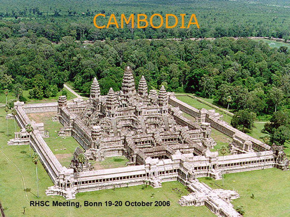 1 CAMBODIA RHSC Meeting, Bonn 19-20 October 2006
