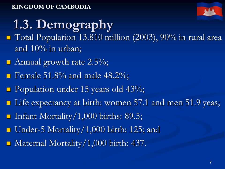 KINGDOM OF CAMBODIA 7 1.3.