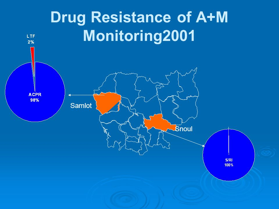 Samlot Snoul Drug Resistance of A+M Monitoring2001