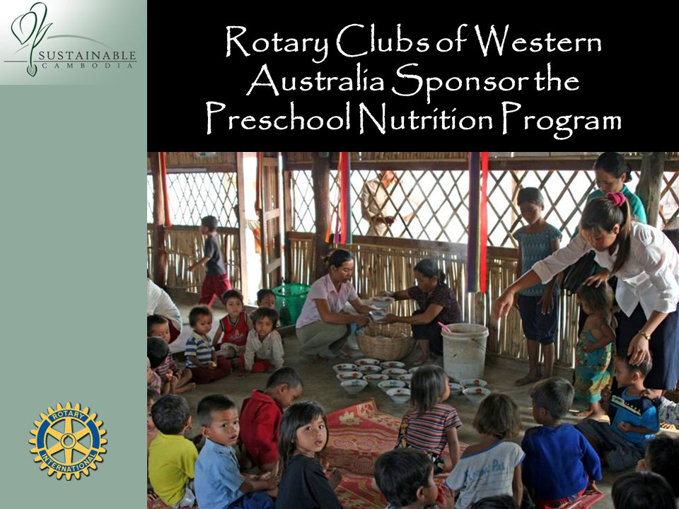 Rotary Clubs of Western Australia Sponsor the Preschool Nutrition Program