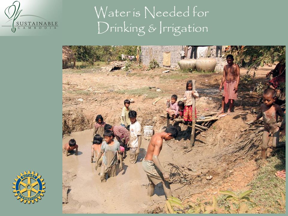 Water is Needed for Drinking & Irrigation