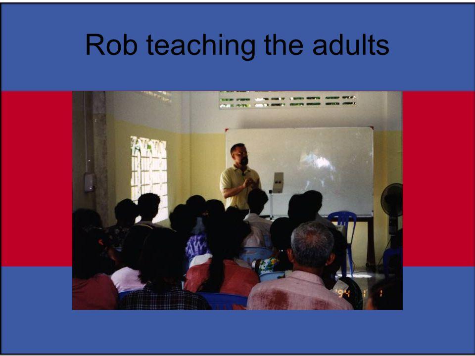 Rob teaching the adults
