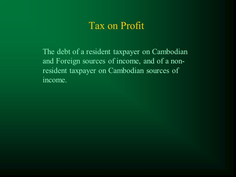 The Type of Taxes in the reform period 1997 until present Major Taxes : ( Finance Act for 1994-95 and LOT ) -Tax on Profit (TOP); -Minimum Tax (MT); -