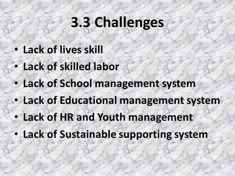 3.4 Resolution The donations should come with good management Set up systems and mechanisms for Educational Management Set up a sustainable supporting systems More lives skill training Provide technical support on some necessary works 9