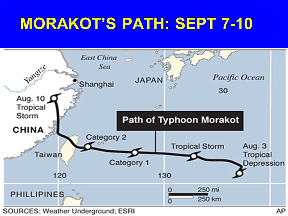 MORAKOT'S PATH: SEPT 7-10