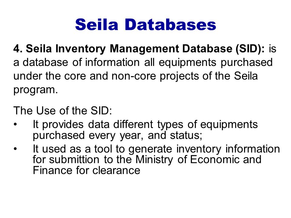Seila Databases 4.