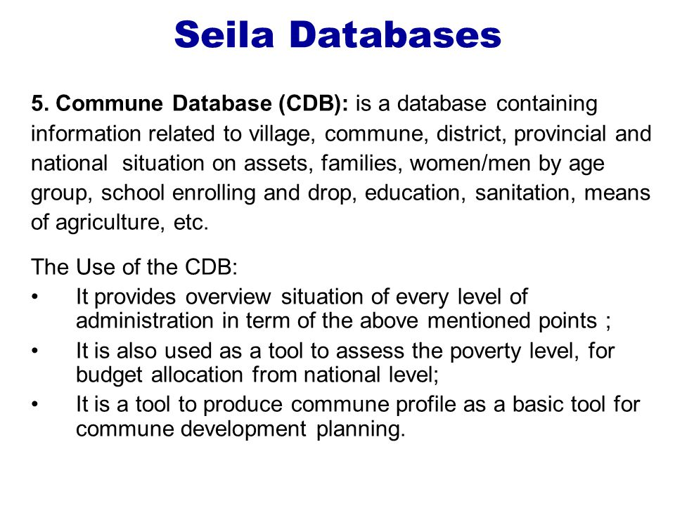 Seila Databases 5.