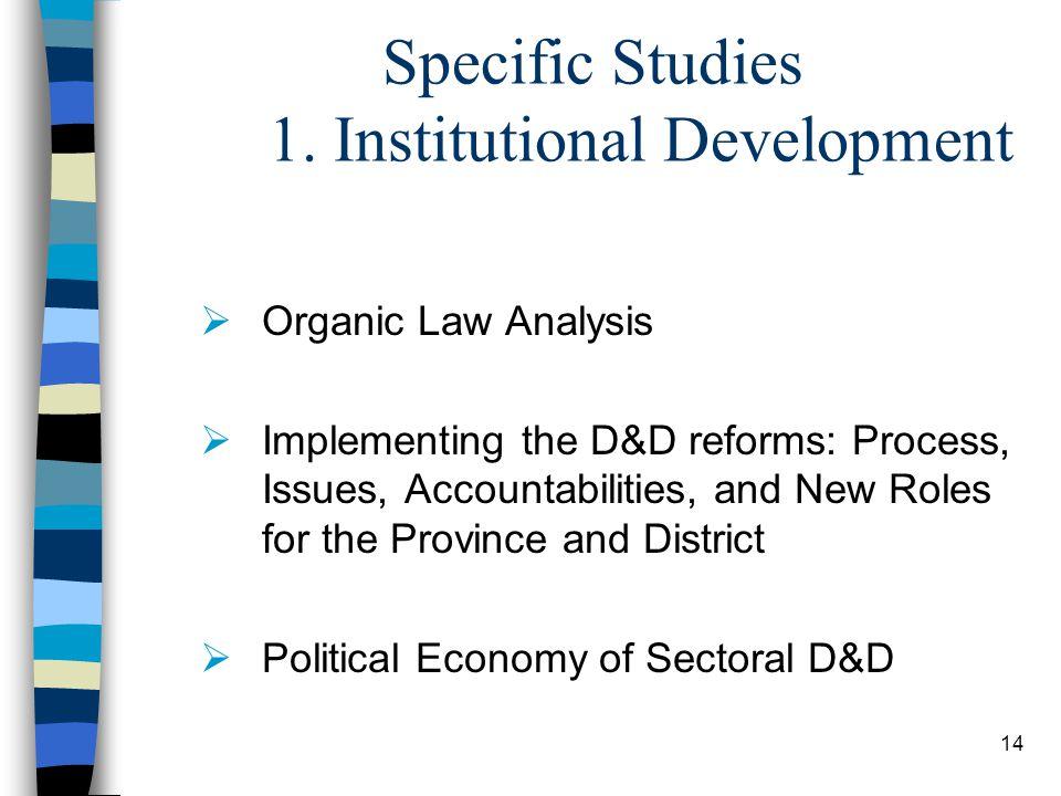 14 Specific Studies 1.