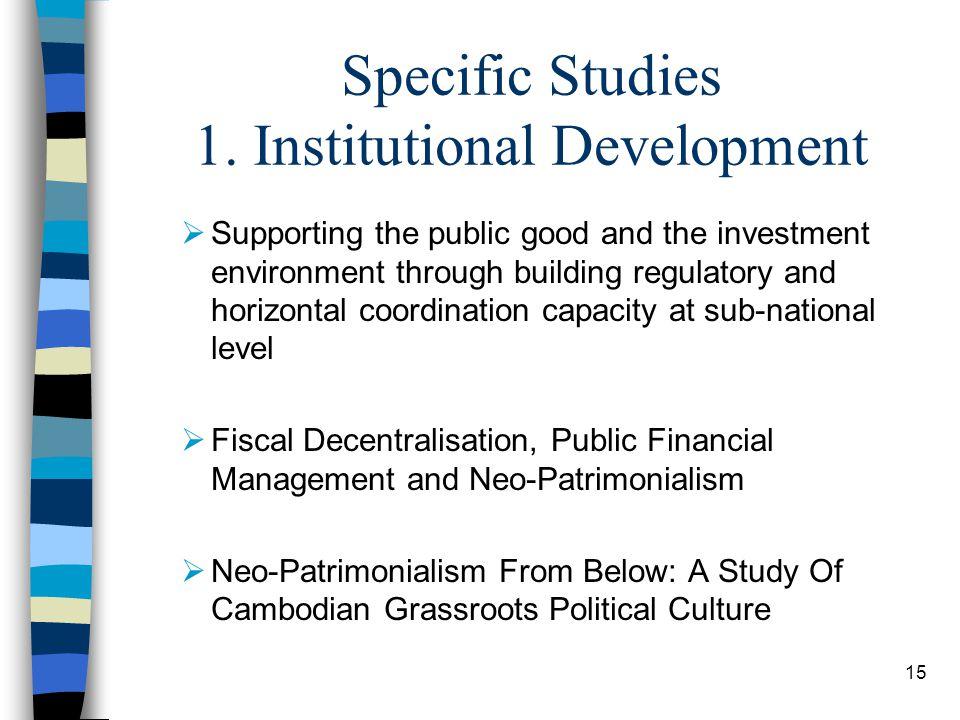 15 Specific Studies 1.