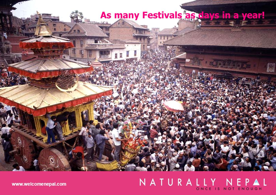 As many Festivals as days in a year! www.welcomenepal.com