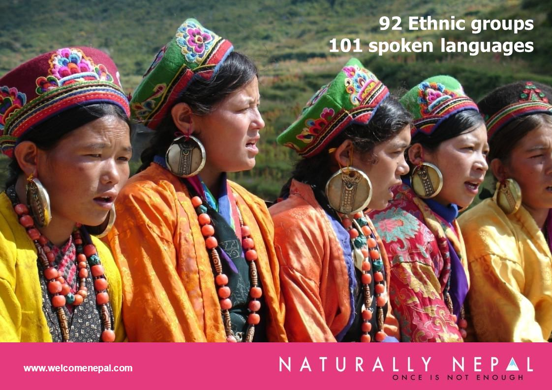 92 Ethnic groups 101 spoken languages www.welcomenepal.com