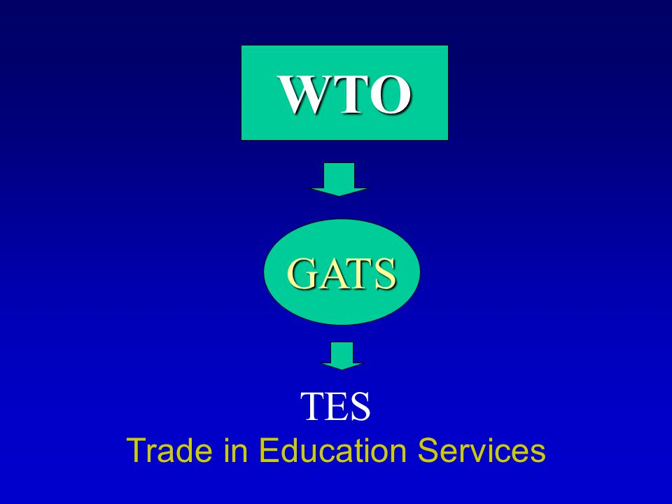 EDUCATION EDUCATION One of the least committed sectors Less than one-third of the 147 WTO's members states have made commitments Most WTO members have put more limitations on trade in primary and secondary education than higher and adult education