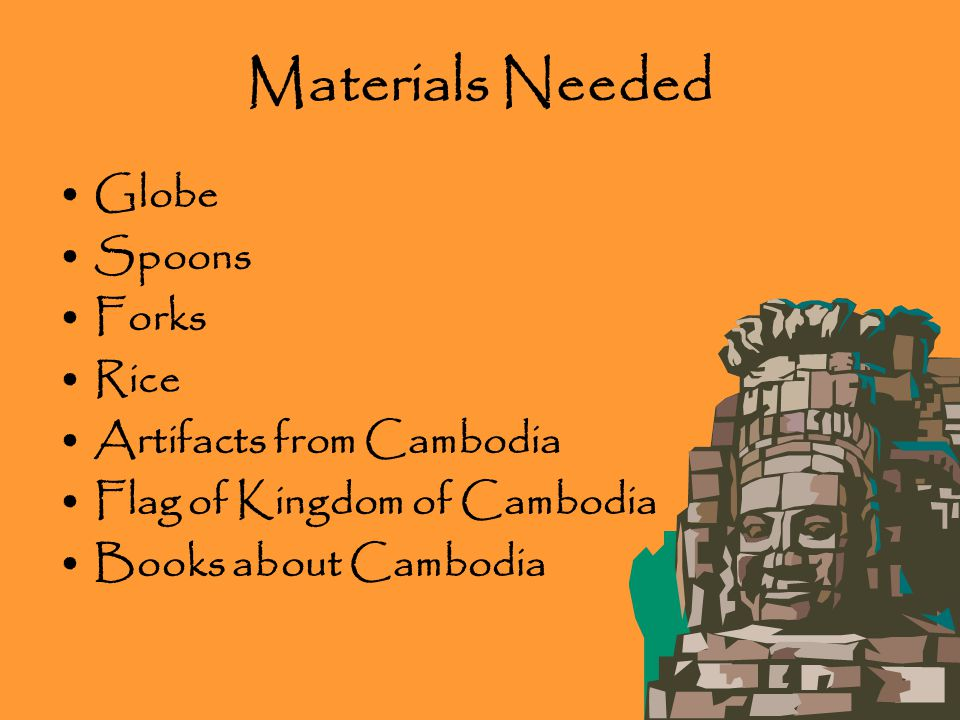 Grade 1: The Kingdom of Cambodia Lesson: Make my students more aware of the country of Cambodia.