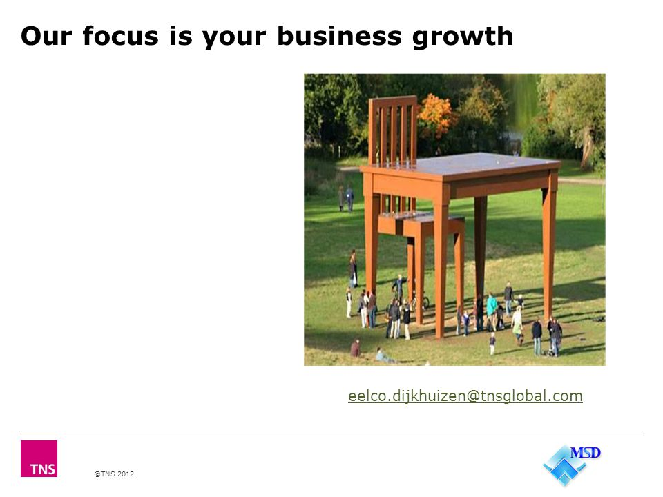 ©TNS 2012 Our focus is your business growth eelco.dijkhuizen@tnsglobal.com