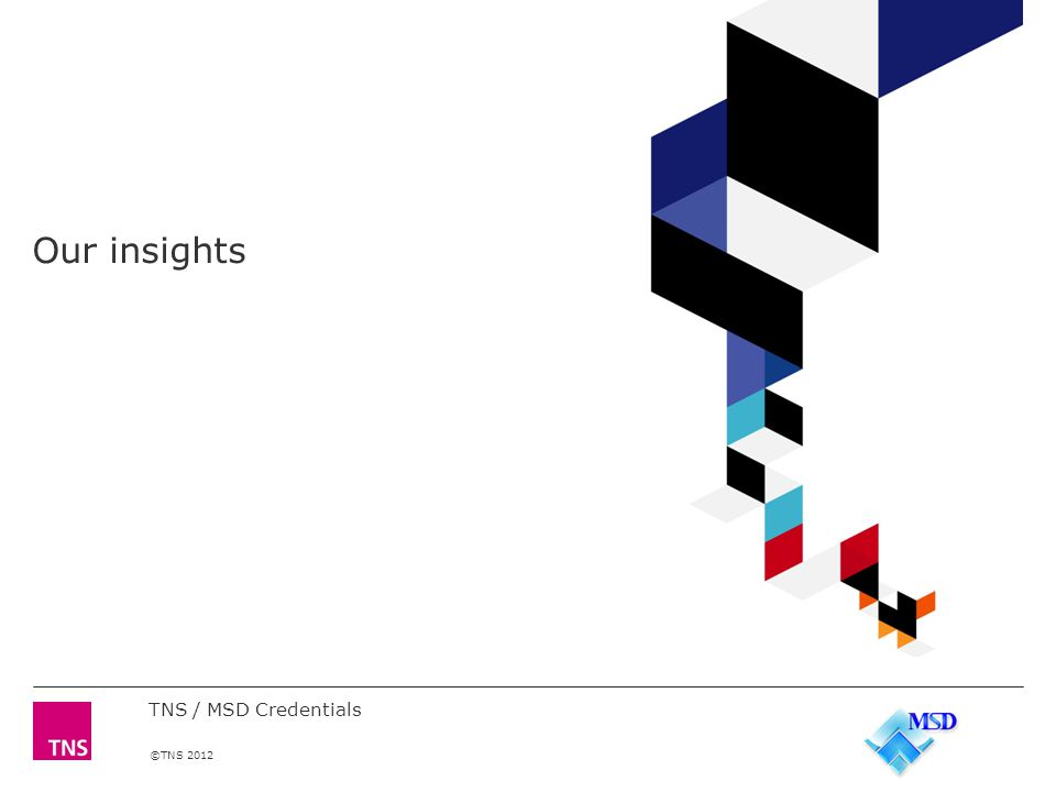 ©TNS 2012 Our insights TNS / MSD Credentials