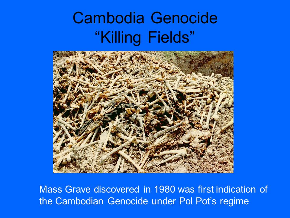 Cambodian Genocide Unsupervised gatherings of more than two persons forbidden.