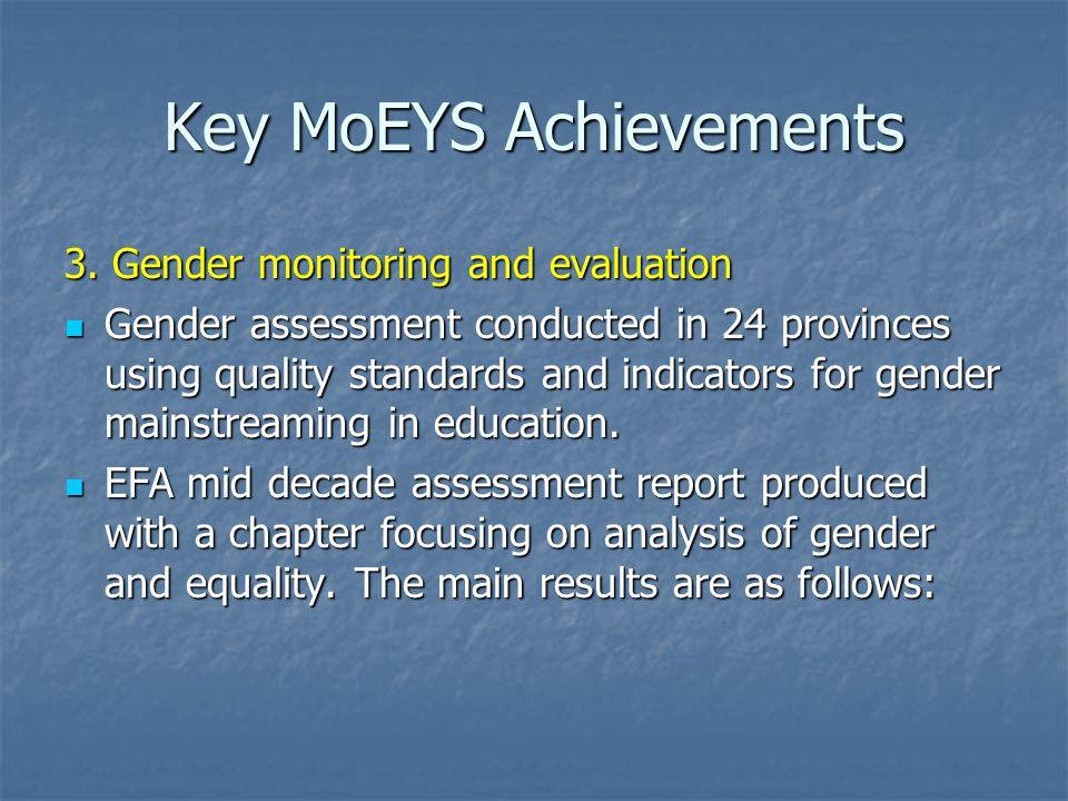 Key MoEYS Achievements 3.