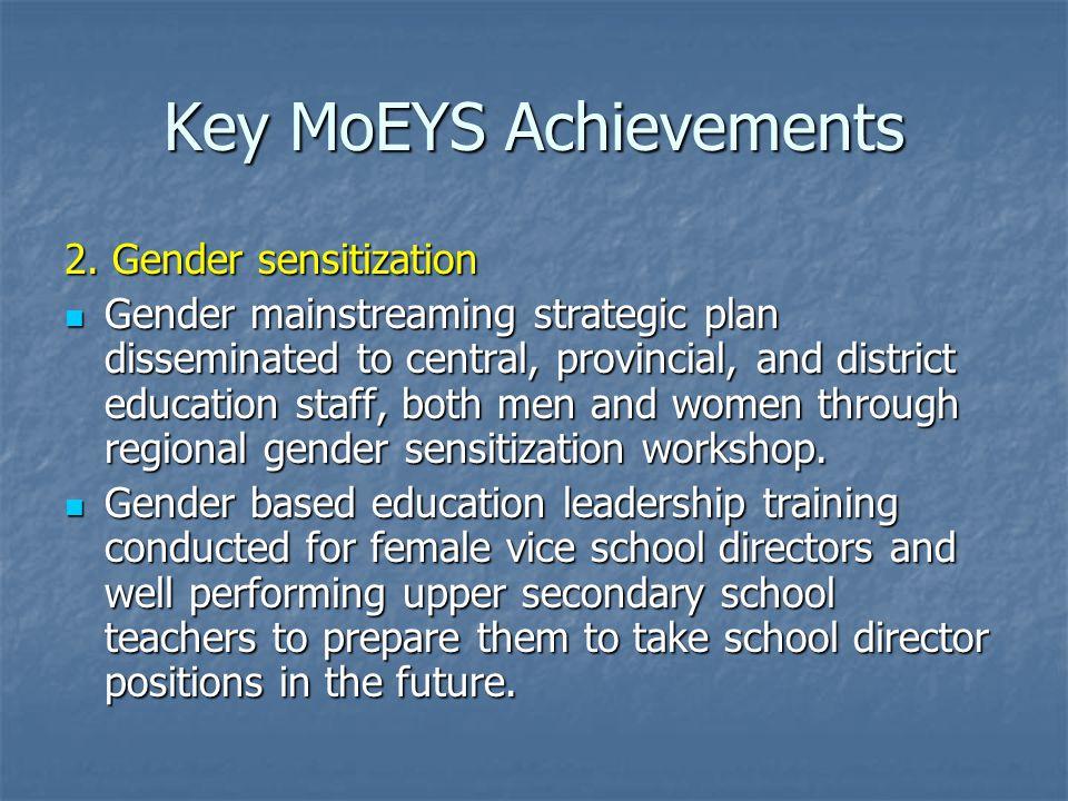 Key MoEYS Achievements 2.