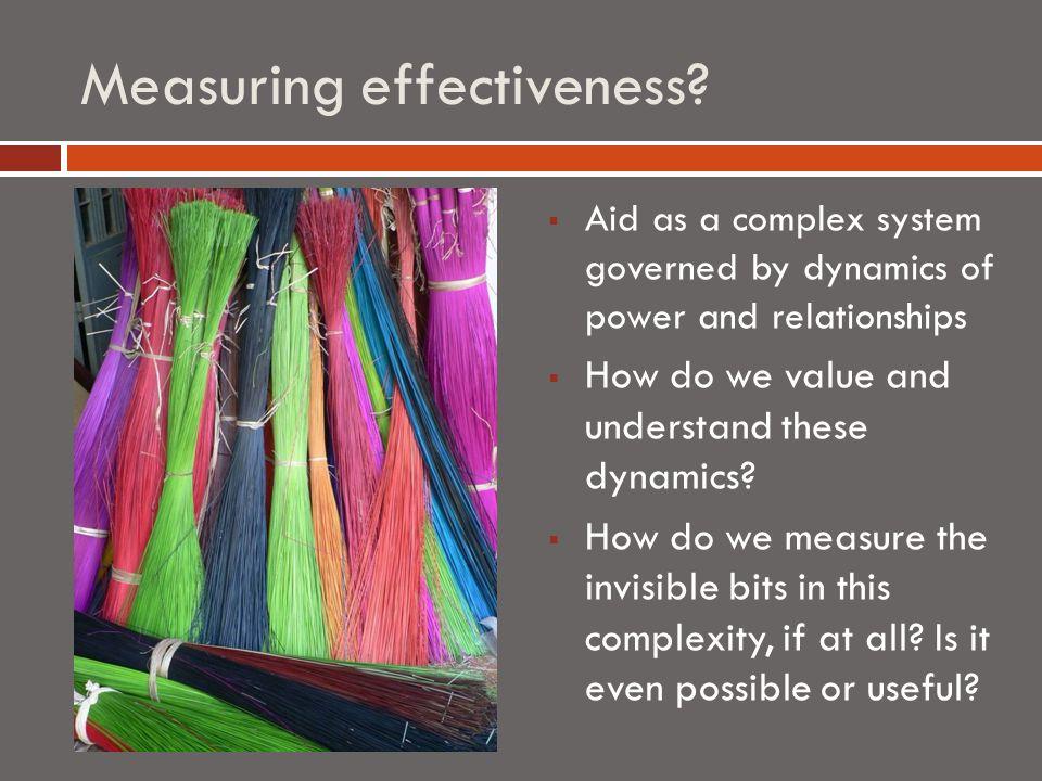 Measuring effectiveness.