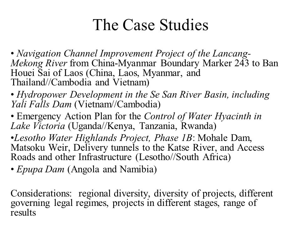 The Case Studies Navigation Channel Improvement Project of the Lancang- Mekong River from China-Myanmar Boundary Marker 243 to Ban Houei Sai of Laos (