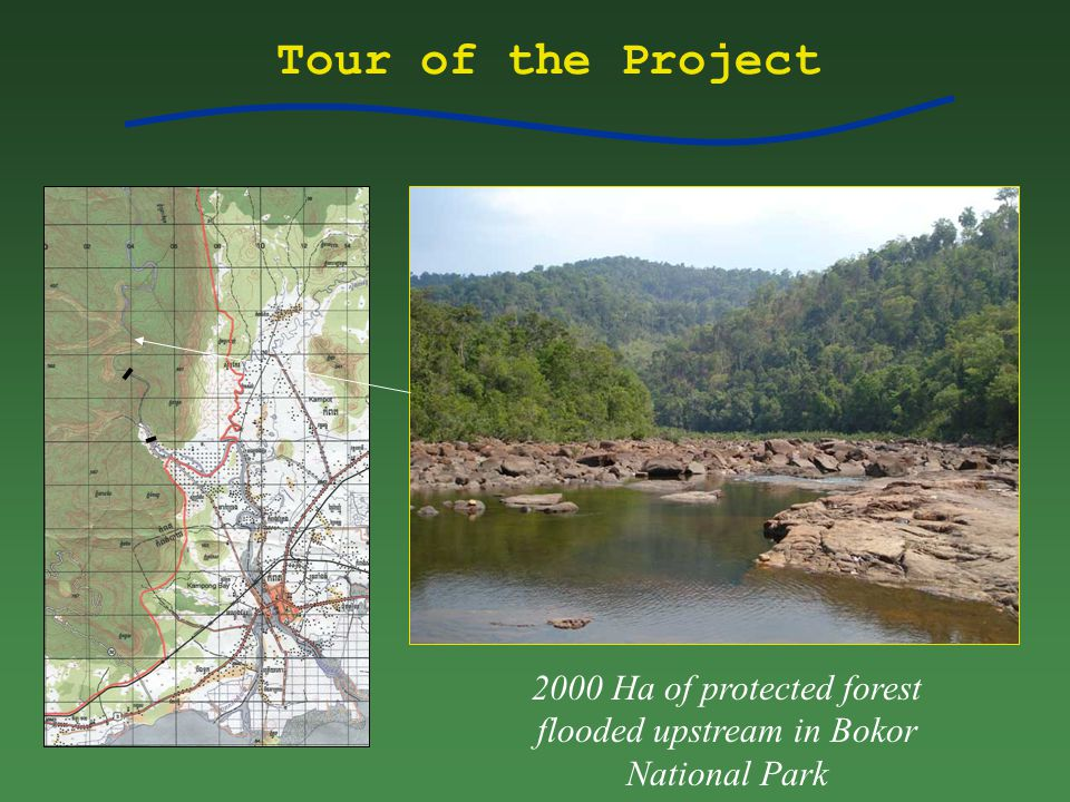 Tour of the Project 2000 Ha of protected forest flooded upstream in Bokor National Park