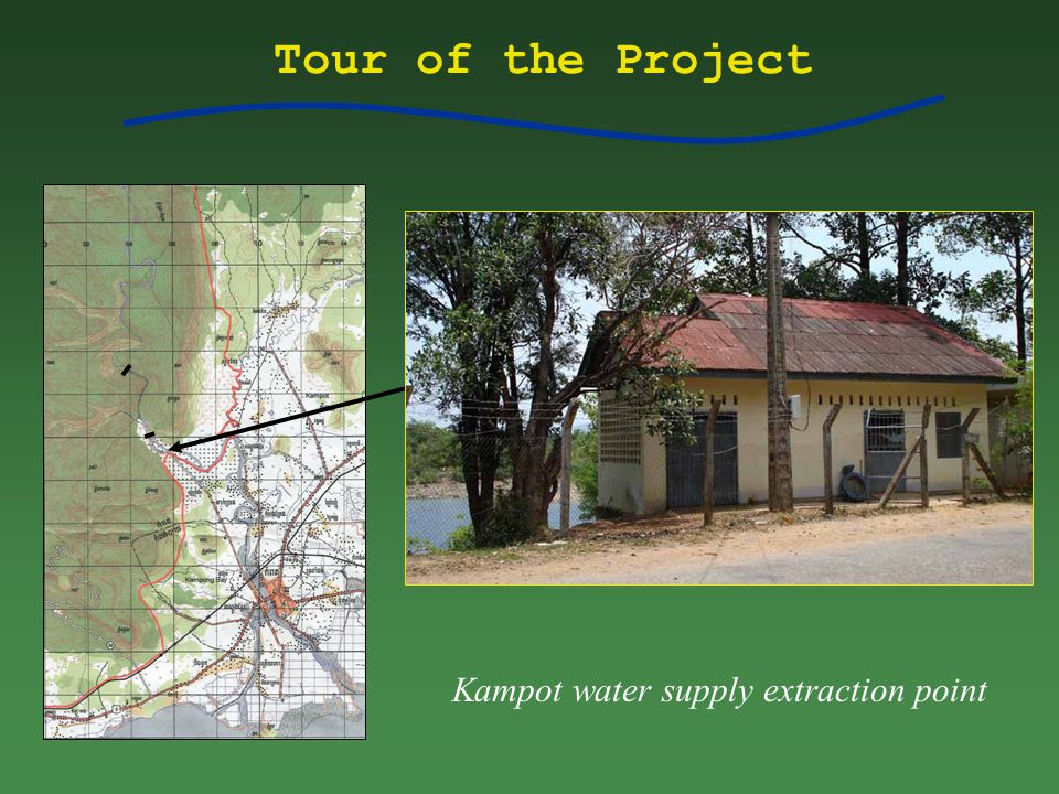 Tour of the Project Kampot water supply extraction point