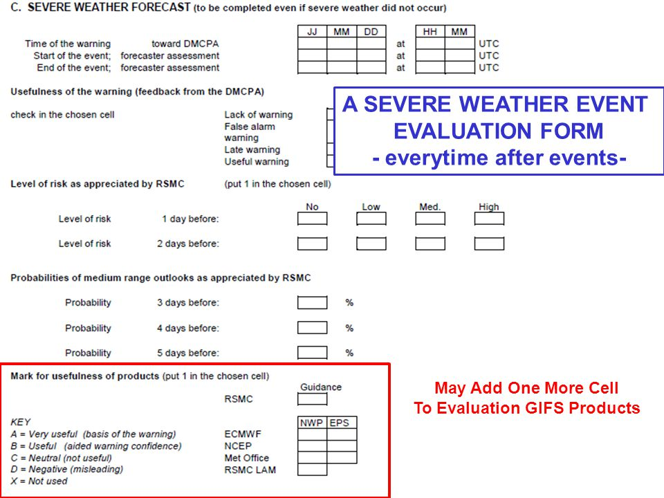 May Add One More Cell To Evaluation GIFS Products A SEVERE WEATHER EVENT EVALUATION FORM - everytime after events-