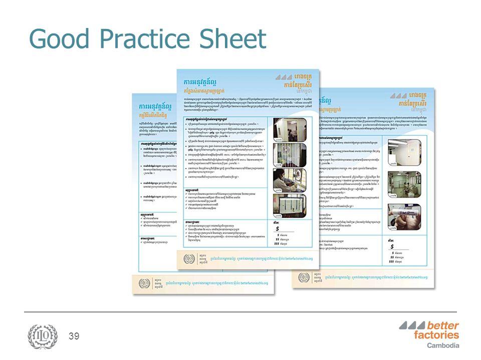39 Good Practice Sheet