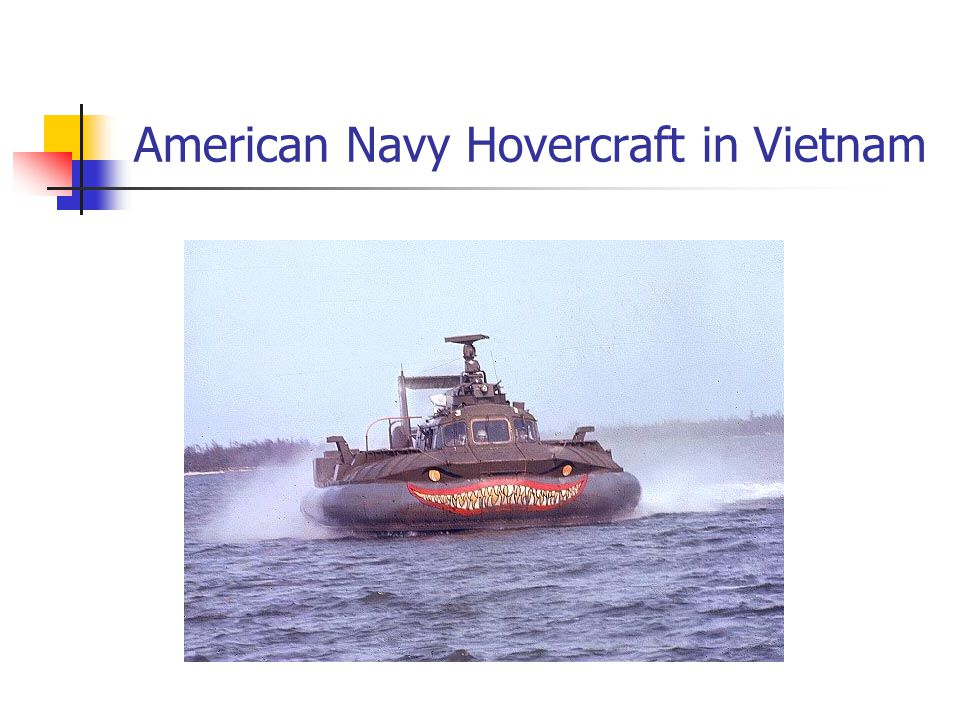 American Navy Hovercraft in Vietnam