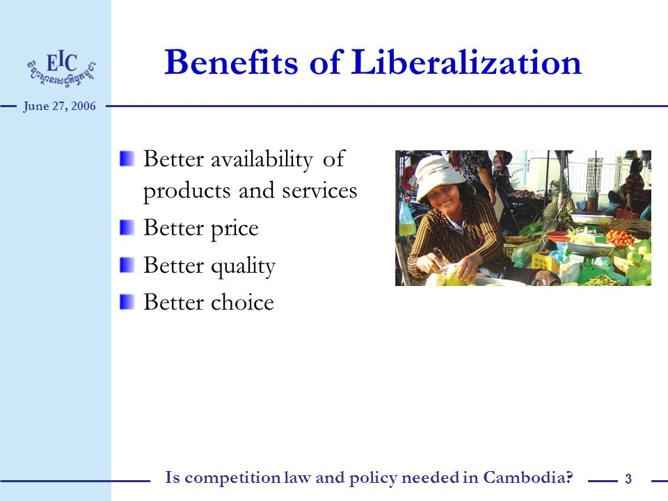 Is competition policy and law needed in Cambodia? What do we need to do?