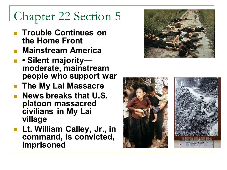 Chapter 22 Section 5 The Invasion of Cambodia 1970, U.S.