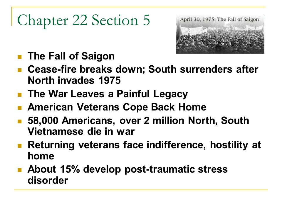 Chapter 22 Section 5 Further Turmoil in Southeast Asia Communists put 400,000 S.
