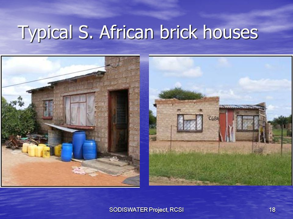 Typical S. African brick houses SODISWATER Project, RCSI18