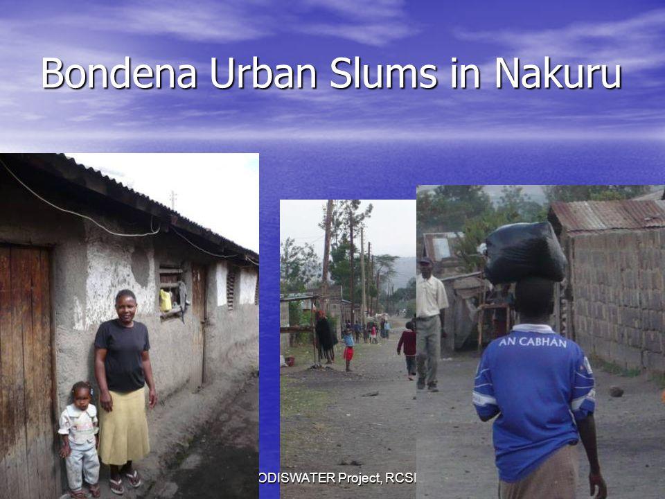 Bondena Urban Slums in Nakuru SODISWATER Project, RCSI24