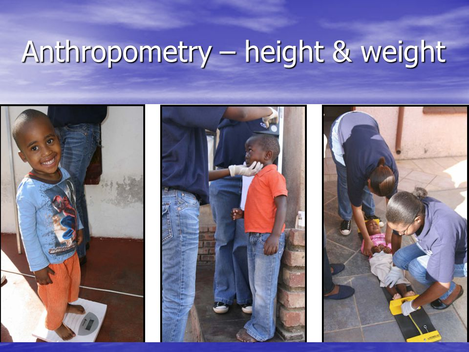 Anthropometry – height & weight SODISWATER Project, RCSI28