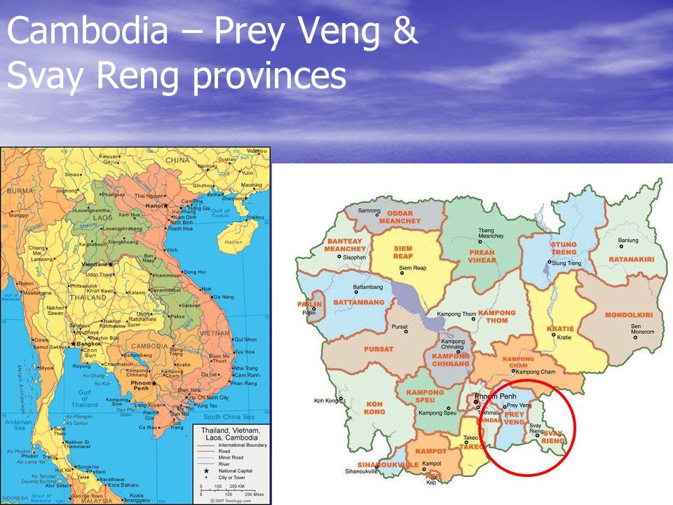 Cambodia – Prey Veng & Svay Reng provinces