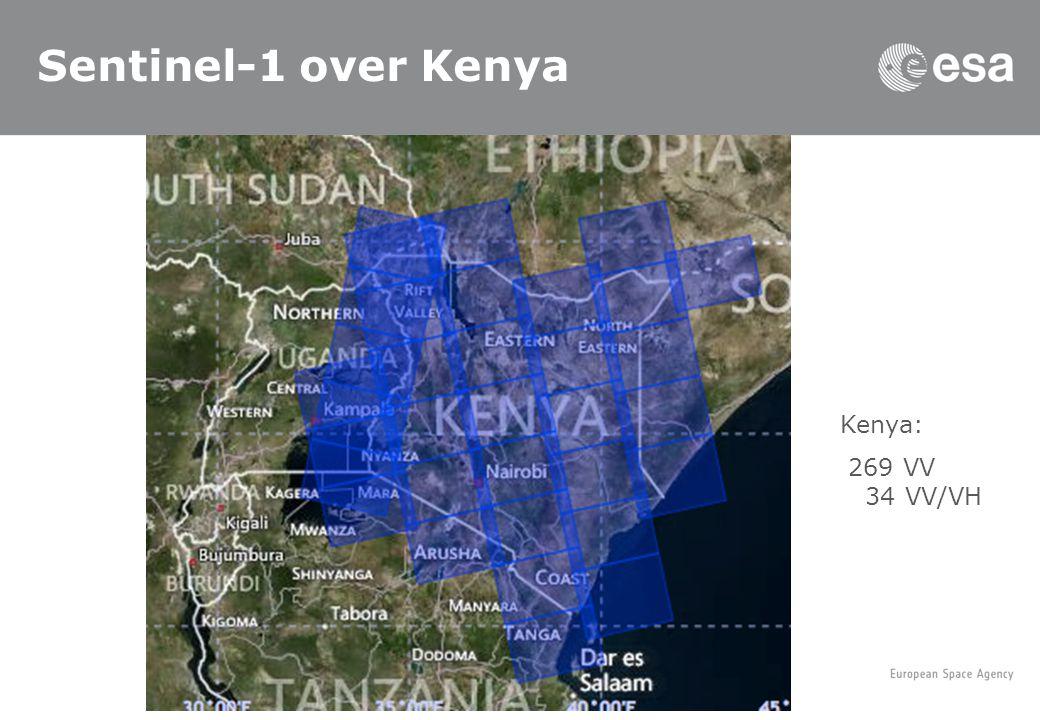 Sentinel-1 over Kenya Kenya: 269 VV 34 VV/VH