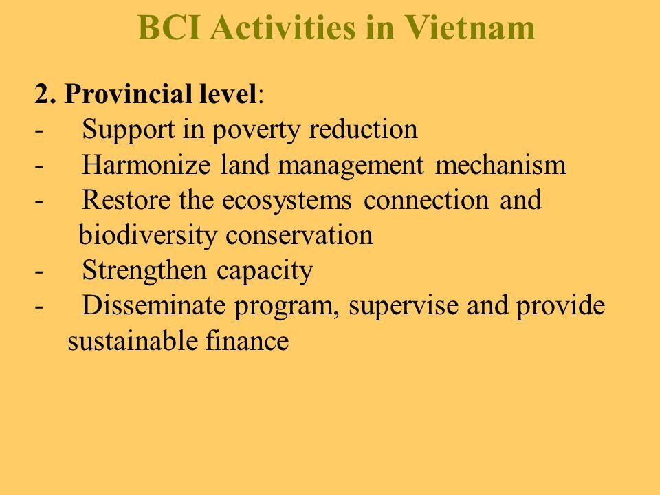 BCI Activities in Vietnam 2.