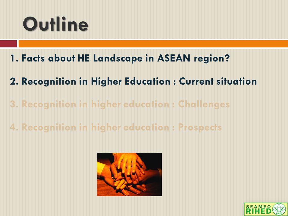 Outline 1.Facts about HE Landscape in ASEAN region.