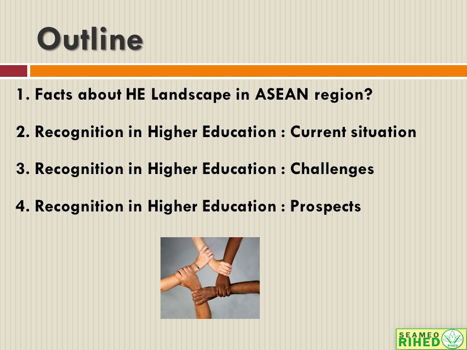 Outline 1. Facts about HE Landscape in ASEAN region.