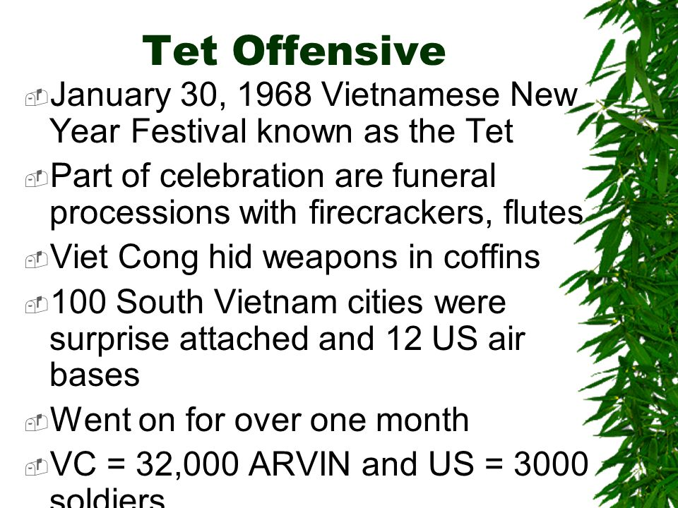 Presenter on the Tet Offensive