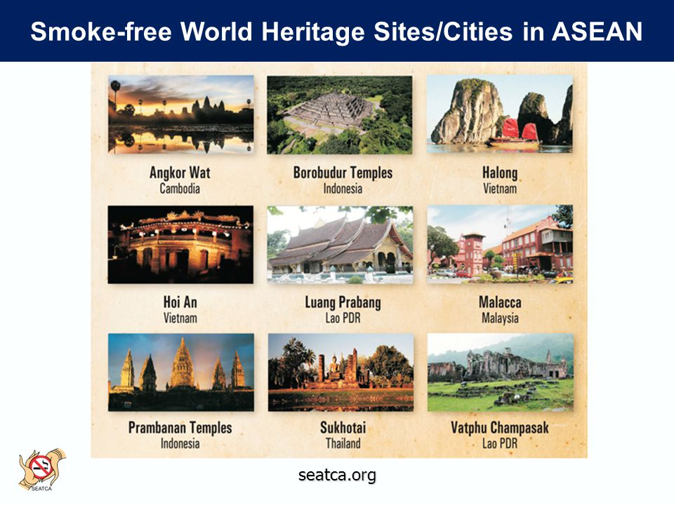 seatca.org Smoke-free World Heritage Sites/Cities in ASEAN