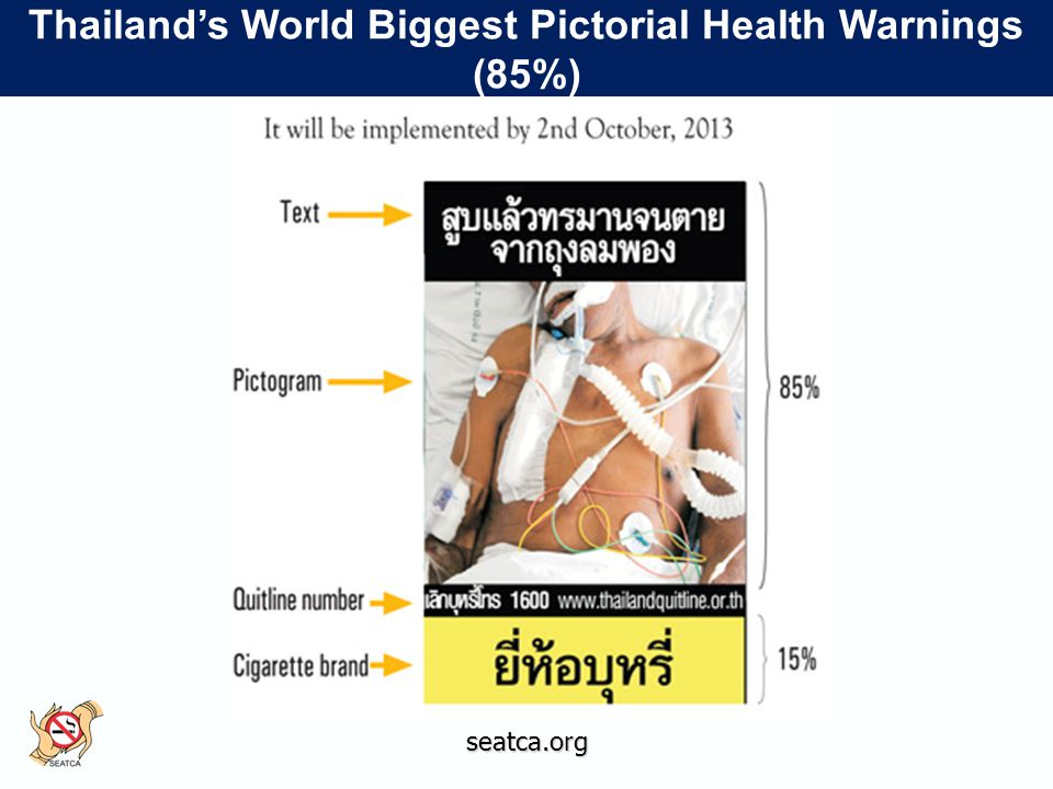 seatca.org Thailand's World Biggest Pictorial Health Warnings (85%)
