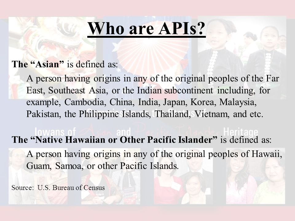 Who are APIs.