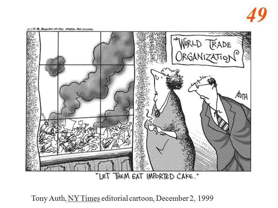 49 Tony Auth, NY Times editorial cartoon, December 2, 1999