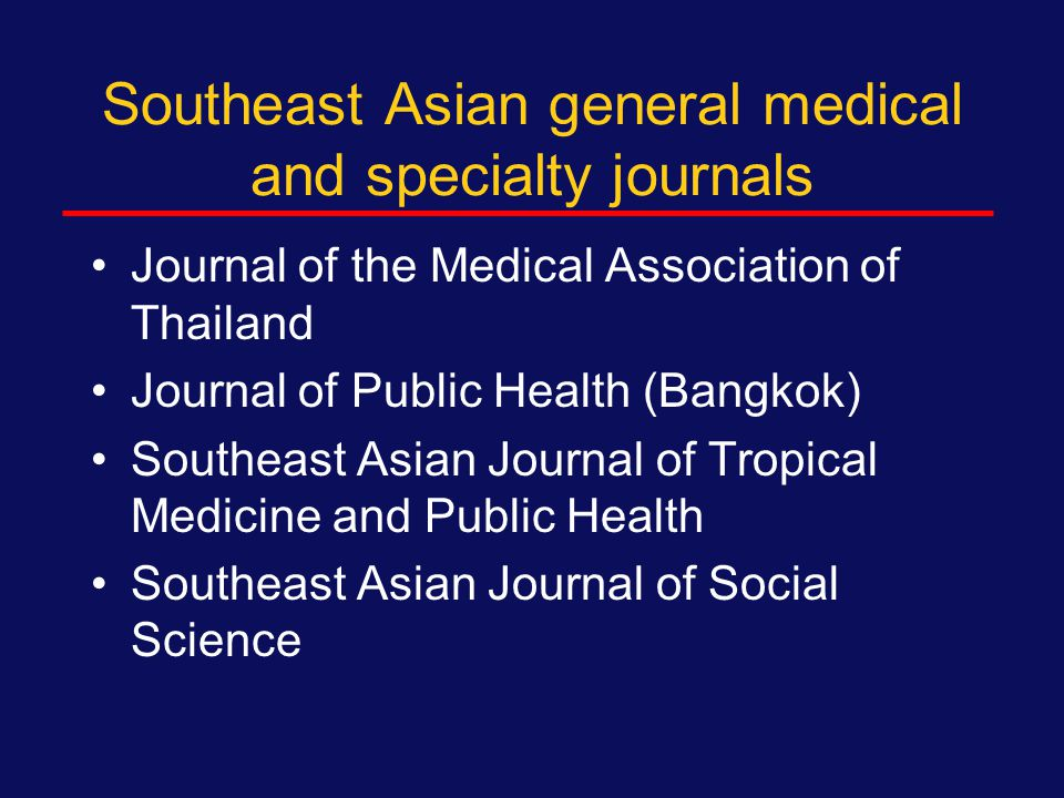 Other specialty journals Pediatrics Transfusion Family planning, obstetrics and gynecology Social science (Social Science in Medicine) Free access journals (BMC Public Health, BMC Infectious Diseases) Health Policy and Planning, Journal of Health Policy Virology