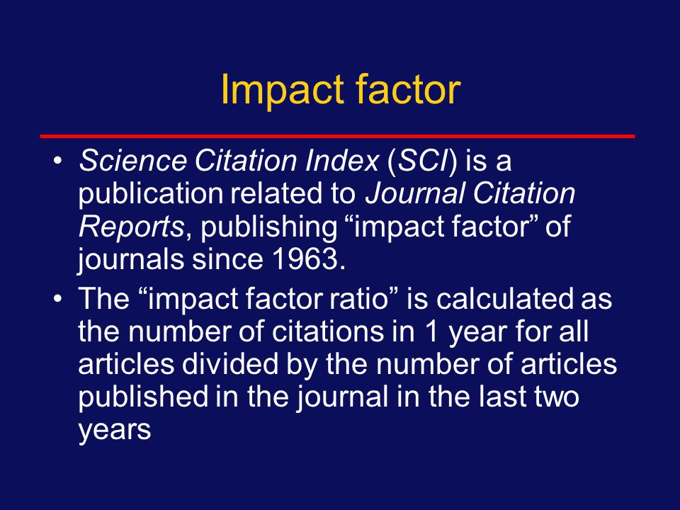 Impact factor Counting references to rank the use of scientific journals was reported in 1927 by Gross and Gross.