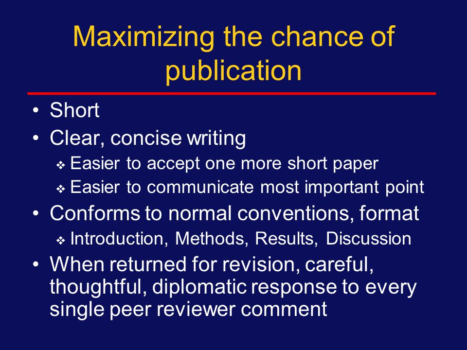 Cover letter: additional Suggested reviewers and why (if allowed) Not submitted elsewhere Co-authors meet criteria All co-authors sign (typically they will all sign a form that the journal provides) We hope our paper will receive favorable consideration for publication in AIDS.