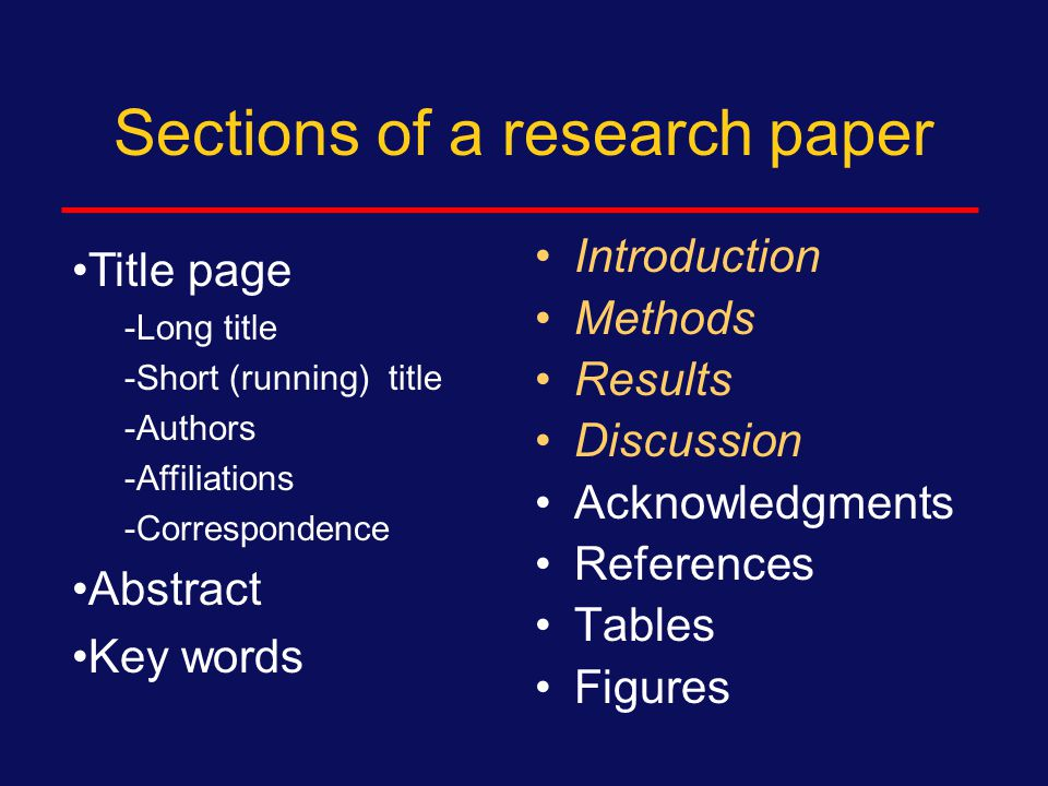 Additional tips for results Don't mix Methods into Results  If you conduct a new analysis or sub-analysis, add into Methods Don't mix Discussion into Results  No interpretation beyond self-evident  (Also, don't introduce Results into Discussion, go back) Be clear and concise Double check numbers, do they add up?