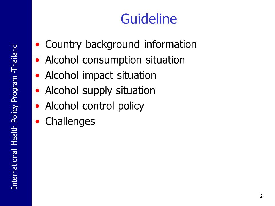 International Health Policy Program -Thailand Country Background information 3